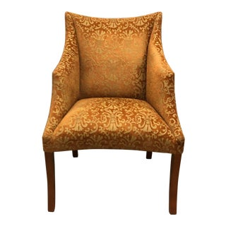 1960s Vintage Donghia Traditional Rust Patterned Accent Chair For Sale