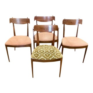 MidCentury Modern Drexel Declaration Dining Chairs by Kipp Stewart -Set of 4 For Sale