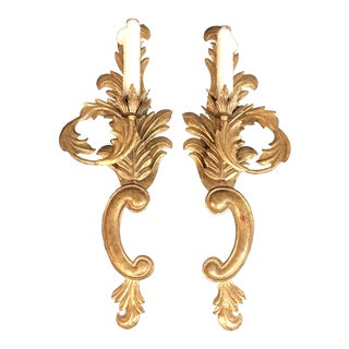 Baroque Minton-Spidell + Luminaire Single-Light Wall Sconces - a Pair
