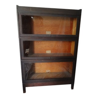 Antique Globe Wernicke 3 Section Bookcase For Sale