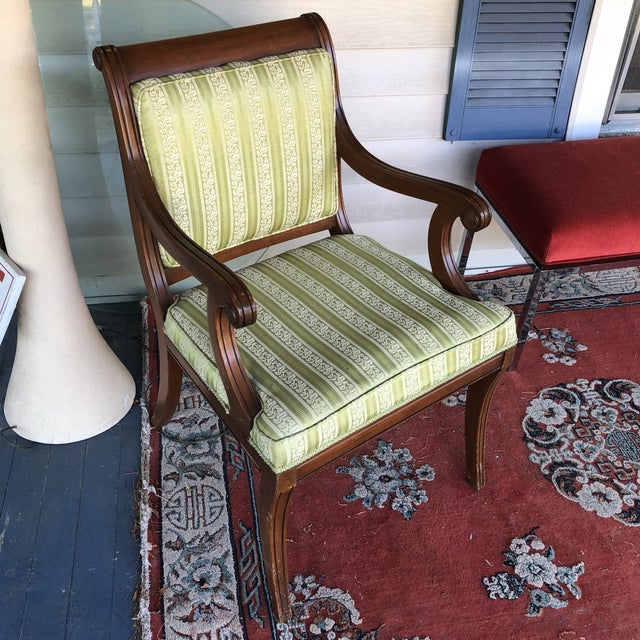 Vintge Traditional Wooden Accent Chair For Sale In Atlanta - Image 6 of 6
