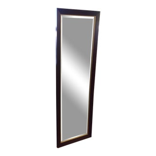 Dark Walnut Finish Full Length Mirror For Sale