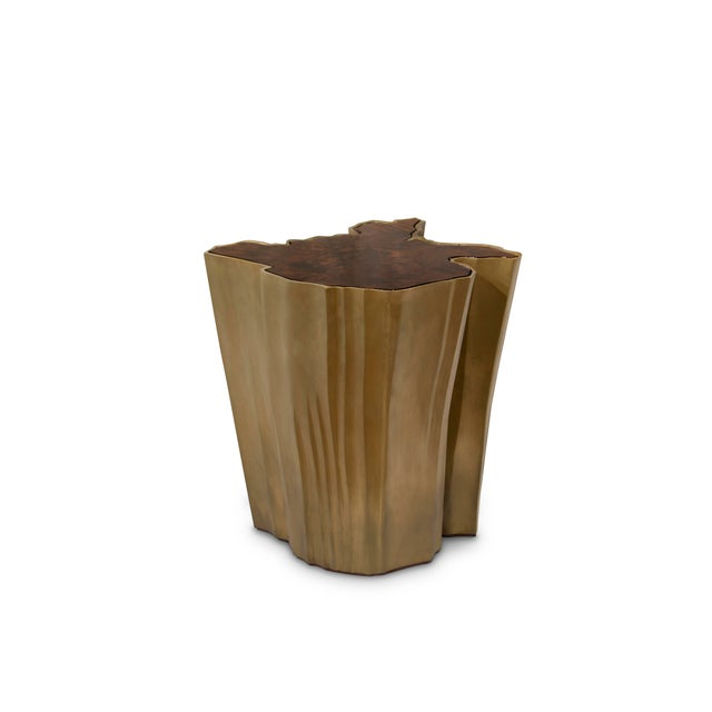 Gold Sequoia Side Table Big From Covet Paris For Sale - Image 8 of 9