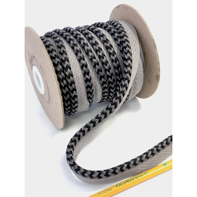 "Textile Braided 1/4"" Indoor/Outdoor Cord in Charcoal & Gray For Sale - Image 7 of 10"