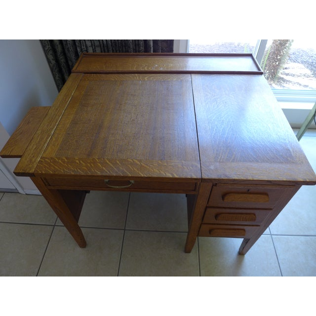 We've had this for over 30 years - it was my desk all through graduate school - it's solid and handsome, with an interior...