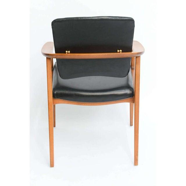 Sigvard Bernadotte for France & Daverkosen Danish Modern Teak Lounge Armchair - Image 6 of 11