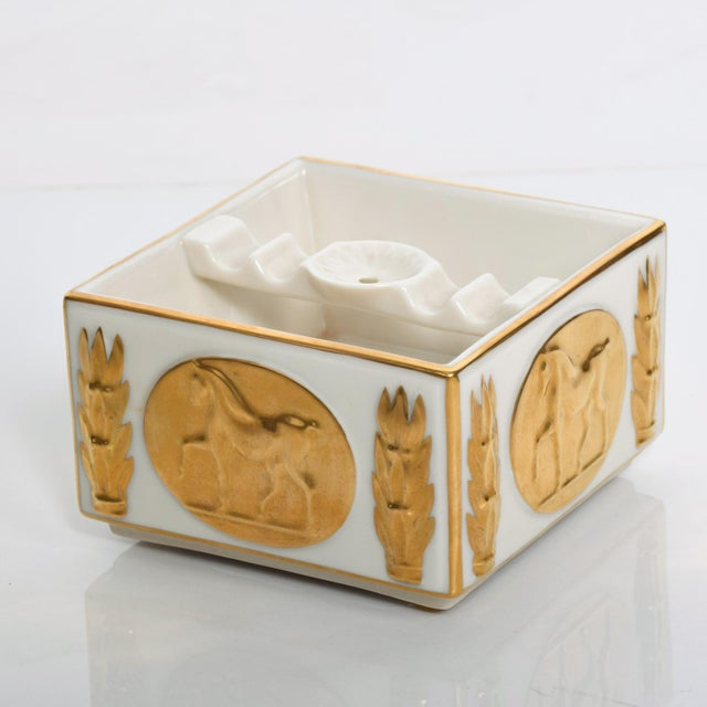 Lenox Mid Century Modern Lenox Golden Stallion Ash Tray Designer's Collection 24k Gold For Sale - Image 4 of 6