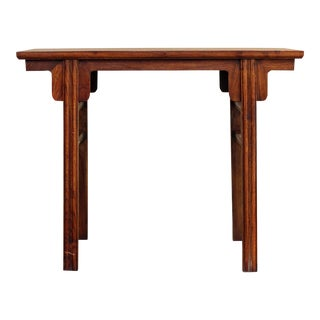 Chinese Oriental Natural Wood Plain Altar Console Table For Sale