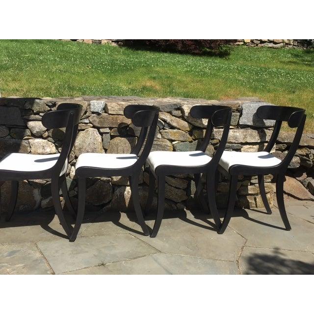 1930s Ebonized Klismo Chairs - Set of 4 - Image 4 of 10