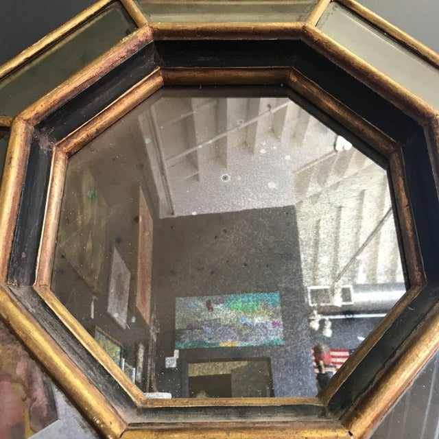 Vintage Octagonal Faceted Mirror For Sale - Image 4 of 5