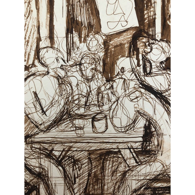 Figurative Cafe Conversation by William Palmer, C. 1944 For Sale - Image 3 of 4