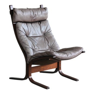 "1960s Leather Easy Chairs Model ""Siesta"" by Ingmar Relling for Westnofa For Sale"