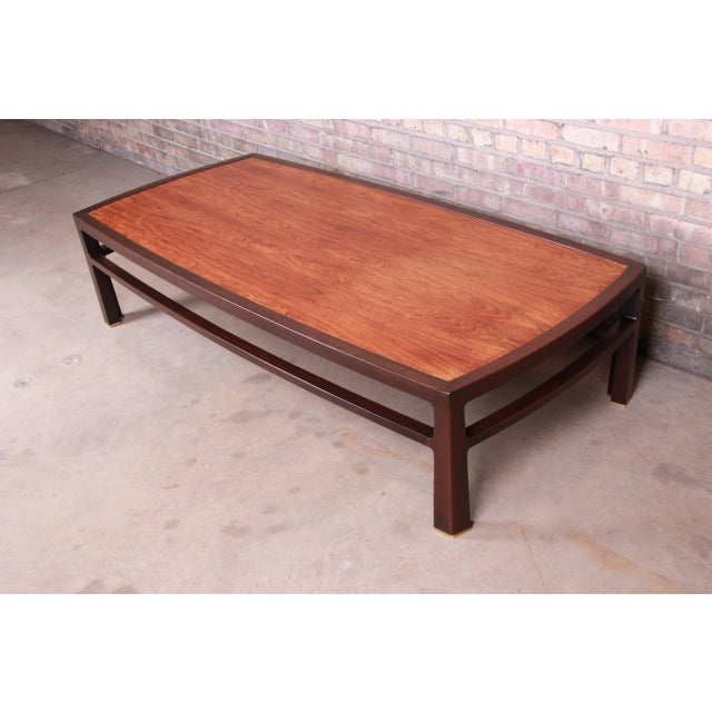 Edward Wormley for Dunbar Monumental Rosewood and Walnut Coffee Table, Newly Restored For Sale - Image 13 of 13