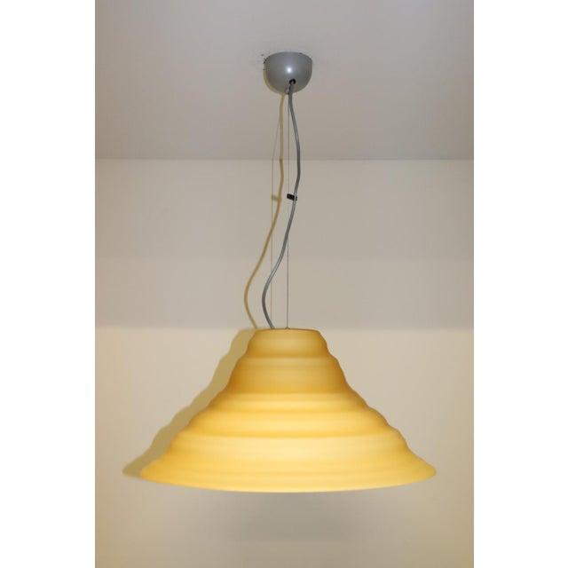 """Incamiciato"" Amber Murano Glass Mid-Century Modern Pendant Light For Sale - Image 11 of 11"