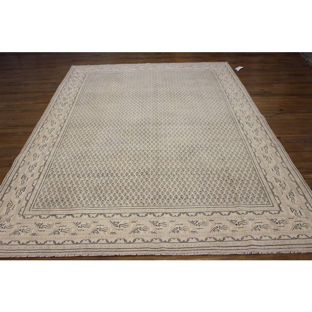 Tan Vintage Hand-Woven Overdyed Rug - 6′2″ × 9′2″ - Image 2 of 9
