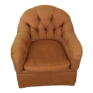 Modern Kravet Brunschwig & Fils Tufted Prelude Swivel Club Chair For Sale