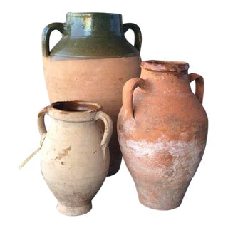19th C French Olive Jars - Set of 3