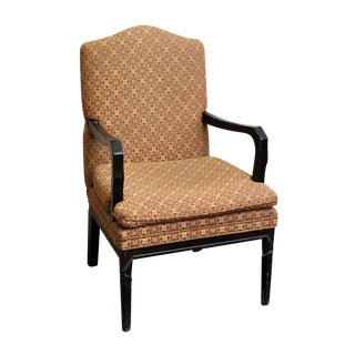 Arm Chair with Decorative Patterned Upholstery For Sale