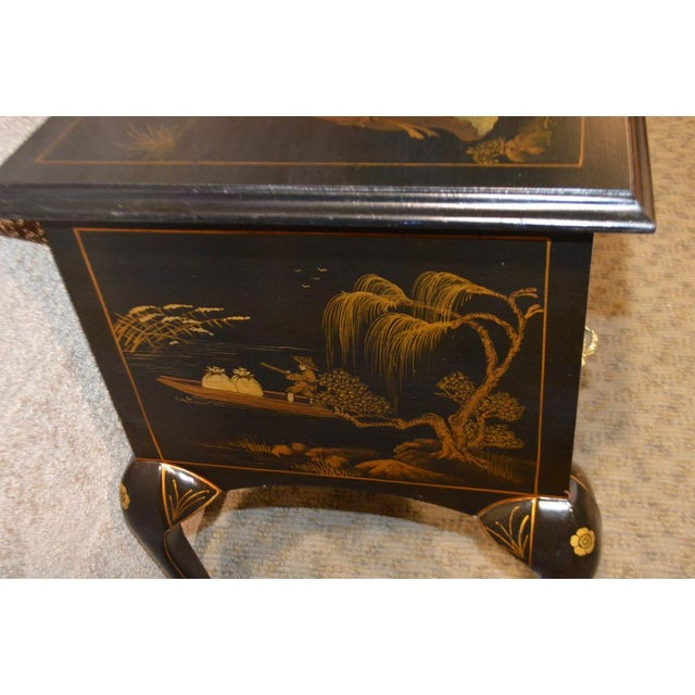 Vintage Hand Painted Chinoiserie Lowboy - Image 9 of 11