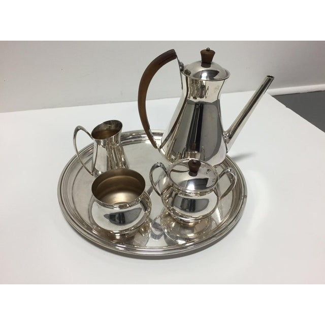 Gotham Silver Plate Coffee and Tea Set - Set of 6 | Chairish