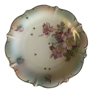1940s Bavarian Porcelain Floral Motif Dish For Sale