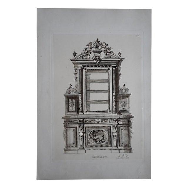 Antique Furniture Lithograph Folio Size - Image 1 of 3