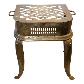 Brass & Iron Footman Trivet/Stool For Sale