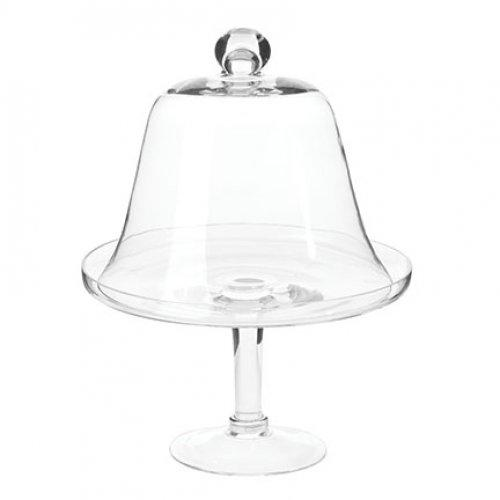 Glass Cake Stand With Dome Cover - Image 1 of 6