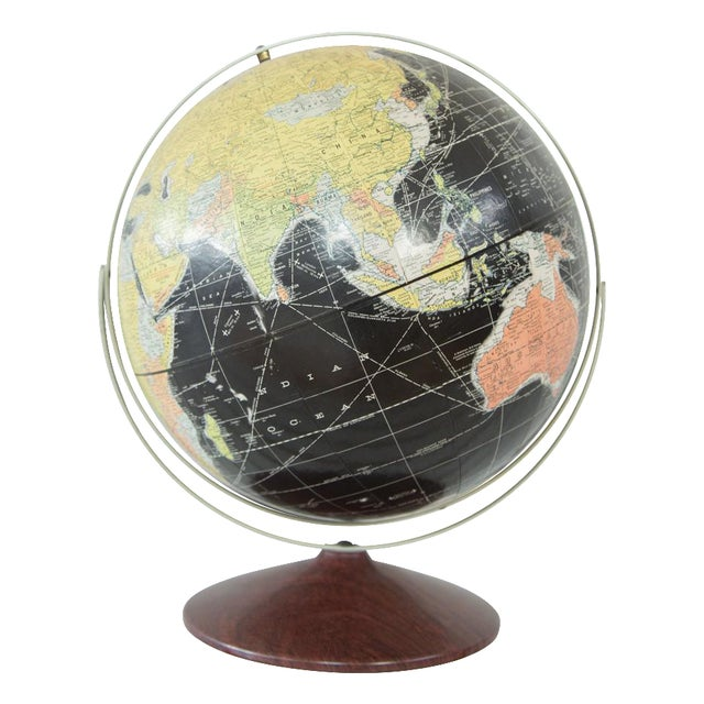 1960s Rand McNally Black Globe - Image 1 of 10