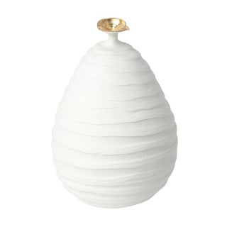 Pear Sculpture in White For Sale