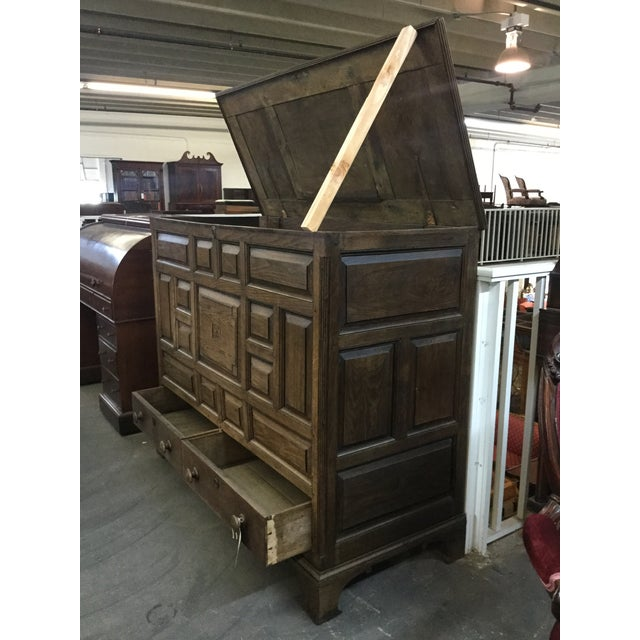Wood Welsh Oak Mule Chest Circa 1820 For Sale - Image 7 of 9
