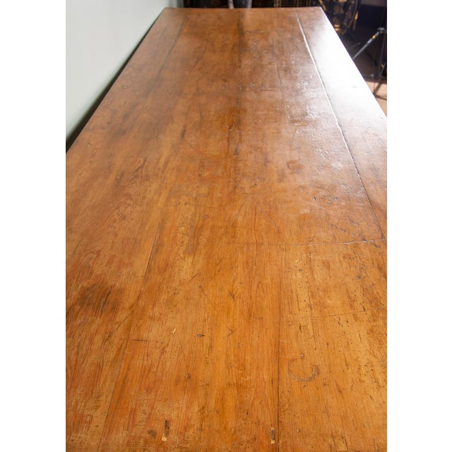 19th Century French Pine Drapers Table With Original Finish For Sale - Image 11 of 13