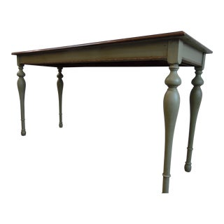 Antique Walnut Console Table For Sale