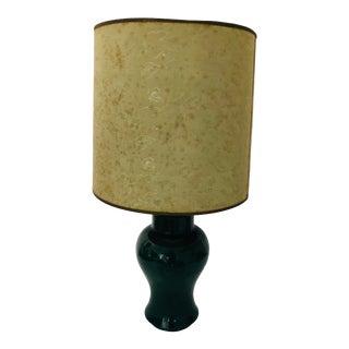 "Hunter Green Vintage Ceramic Table Lamp 24"" For Sale"