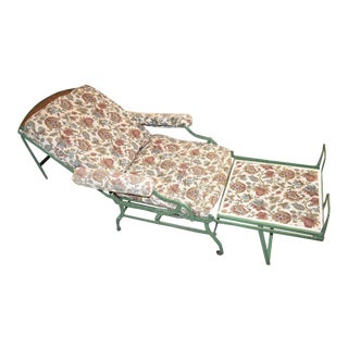 Antique Iron Yacht Lounge Chair For Sale