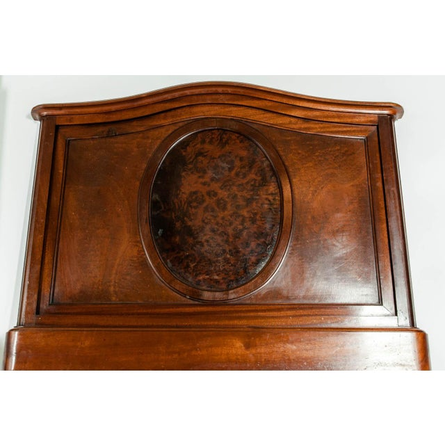 Art Nouveau 19th C. French Burl Walnut Single Beds For Sale - Image 3 of 8