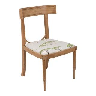 Aegean Klismos Chair in Botswana Trees Peridot Multi For Sale