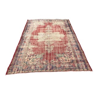 Antique Handknotted Turkish Carpet - 5′2″ × 8′9″ For Sale