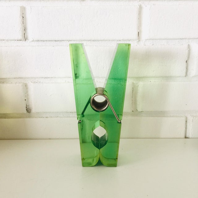 Mid-Century Modern Giant Green Lucite Clothespin For Sale - Image 3 of 10