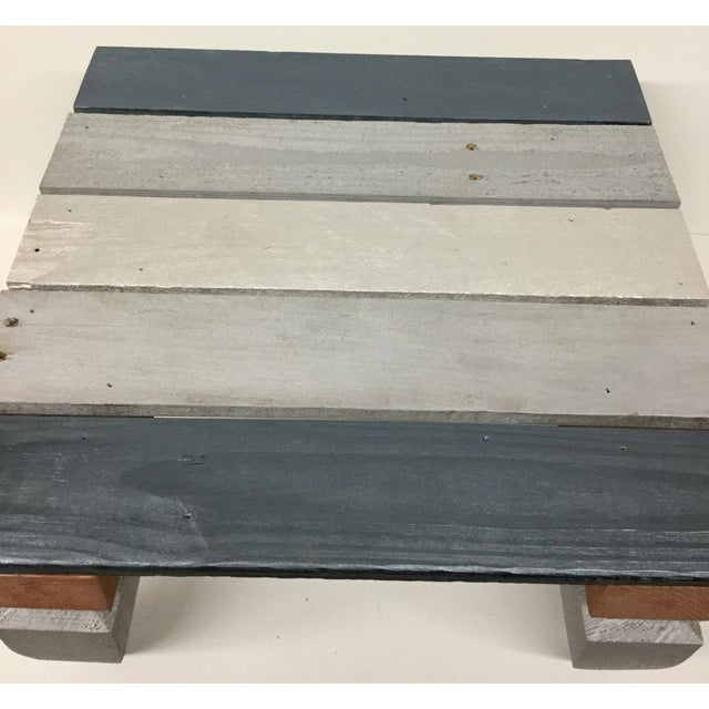 Industrial Reclaimed Hardwood Meditation Table For Sale In Boston - Image 6 of 13