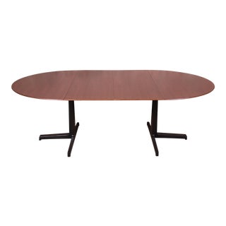 Edward Wormley for Dunbar Walnut Extension Dining Table, Newly Restored For Sale