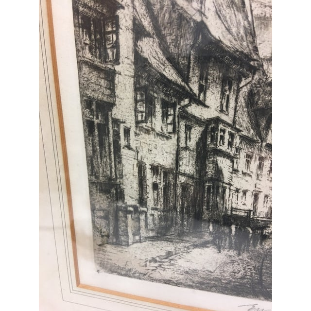 European City Street by Cathedral Etching For Sale In New York - Image 6 of 8