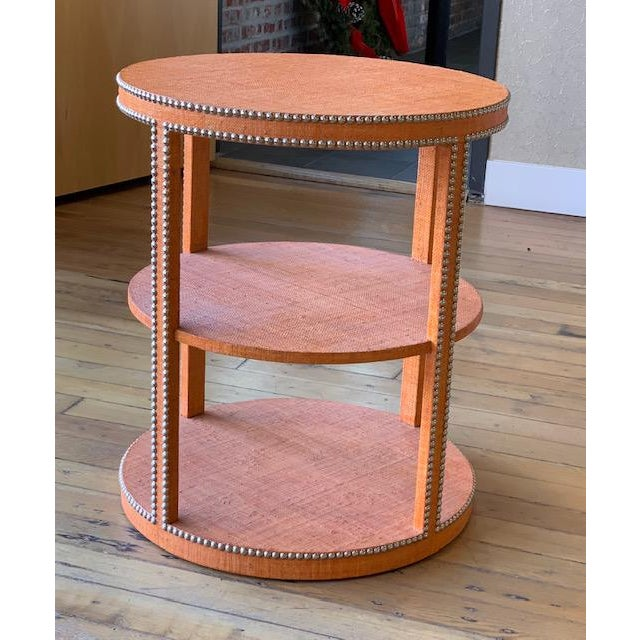 Boho Chic Curate Home Round Tier Table For Sale In Saint Louis - Image 6 of 6