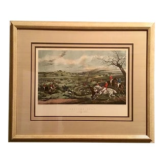 19th Century Original Hunting Lithograph by Henry Alken, Framed For Sale