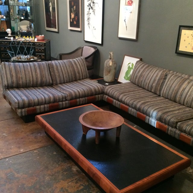 Mid-Century Modern 1960s Adrian Pearsall Platform Sofa and Table Set For Sale - Image 3 of 10