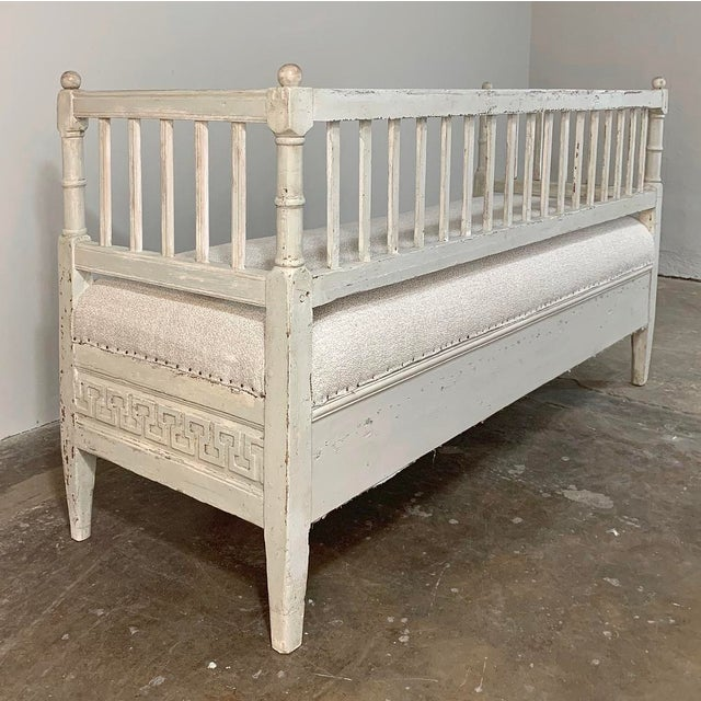White 19th Century Swedish Painted Day Bed ~ Bench For Sale - Image 8 of 13