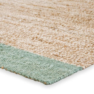 Jaipur Living Mallow Natural Bordered Tan & Blue Area Rug - 4' X 6' Preview