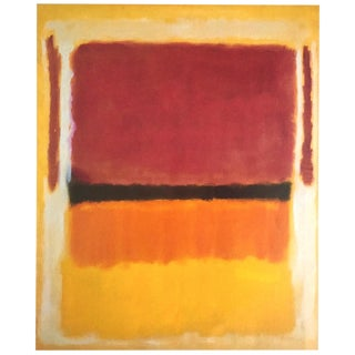 "Mark Rothko Vintage 1999 Abstract Expressionist Offset Lithograph Calendar Print "" Untitled "" 1949 For Sale"