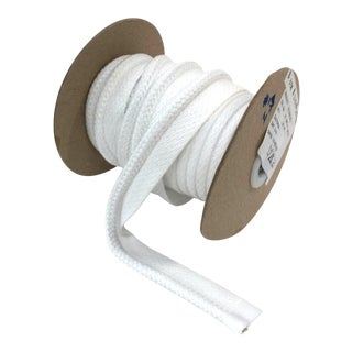 "Braided 1/4"" Indoor/Outdoor Cord in White For Sale"