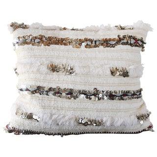 Morrocan White Handira Pillow